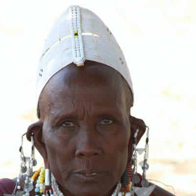 ältere Massaifrau